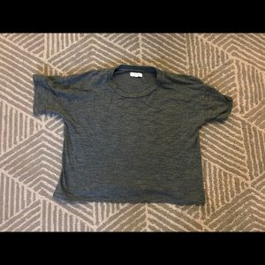 Madewell green cropped heather t shirt